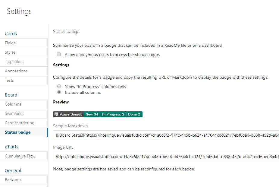 Share your Azure Boards status with Status Badge – Arad